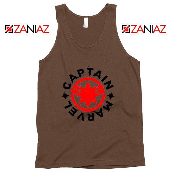 Captain Marvel Superhero Tank Top Marvel Comics Character Brown