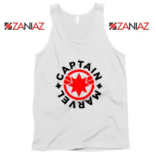 Captain Marvel Superhero Tank Top Marvel Comics Character White