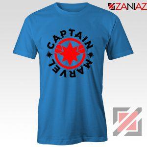 Captain Marvel Superhero Tshirts Marvel Comics Character Tee Shirts Blue