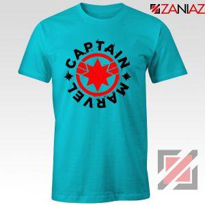 Captain Marvel Superhero Tshirts Marvel Comics Character Tee Shirts Light Blue