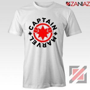 Captain Marvel Superhero Tshirts Marvel Comics Character Tee Shirts White