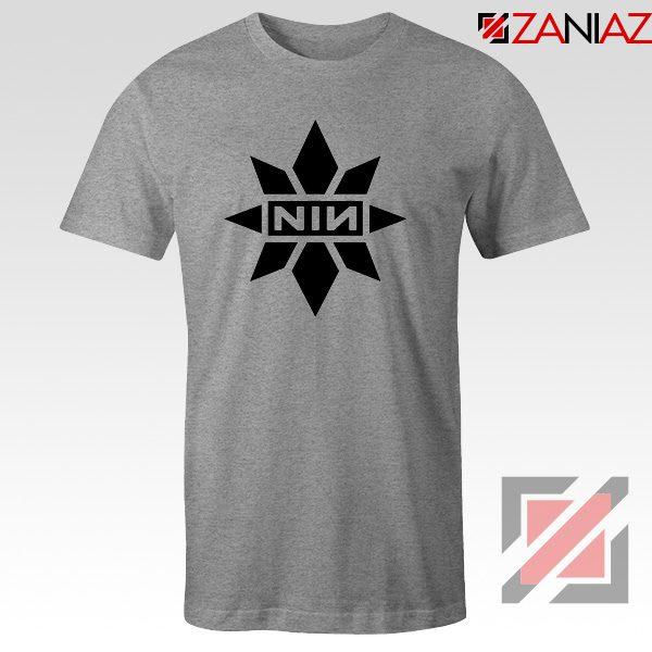Captain Marvel X NIN T-Shirt Marvel Film Tee Shirt Size S-3XL Sport Grey