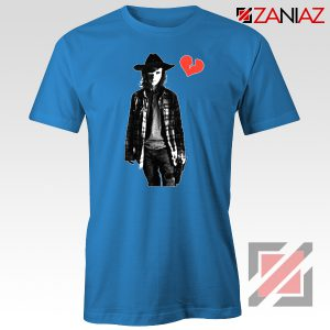 Carl Grimes Tee Shirt Walking Dead TV Series Best Tshirt Blue