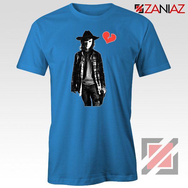 Carl Grimes Tee Shirt Walking Dead TV Series Best Tshirt Blue