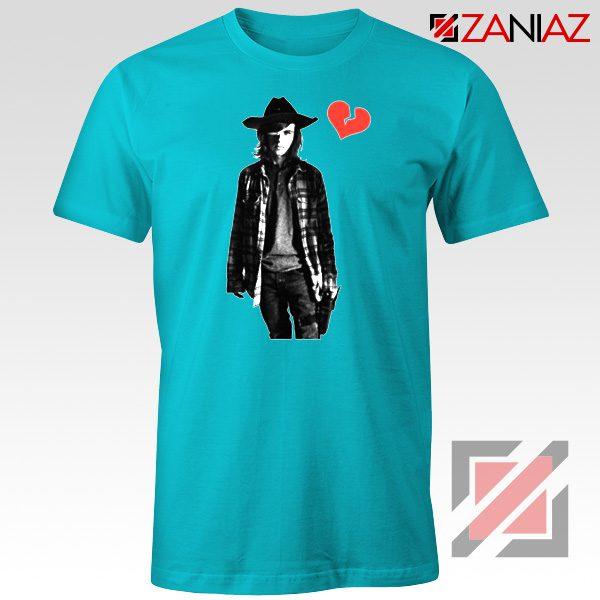 Carl Grimes Tee Shirt Walking Dead TV Series Best Tshirt Light Blue