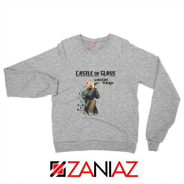 Castle Of Glass Sweatshirt Linkin Park Chester Bennington Sweatshirt Sport Grey