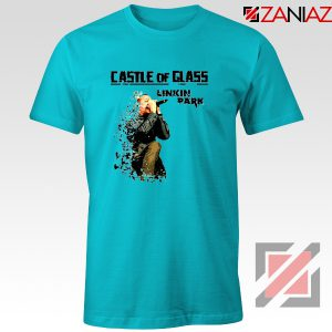 Castle Of Glass T-Shirt Linkin Park Chester Bennington T-Shirt Size S-3XL Light Blue