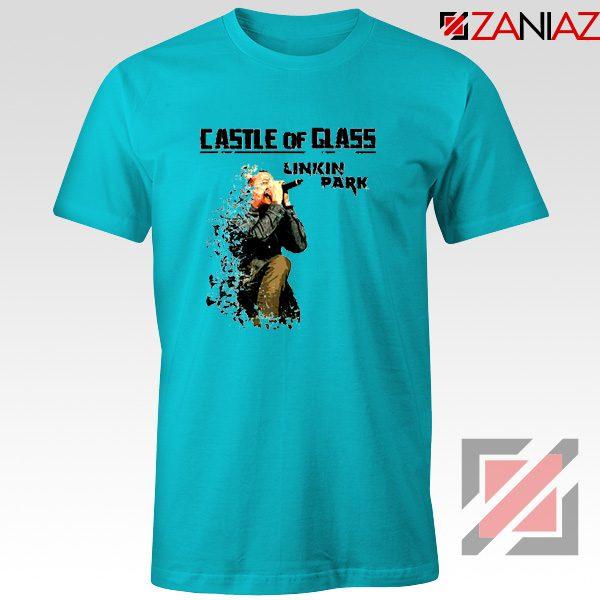 Castle Of Glass T-Shirt Linkin Park Chester Bennington T-Shirt Size S-3XL Light Blue