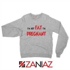 Cheap Pregnancy Sweatshirt Funny Slogan Sweatshirt Size S-2XL Sport Grey