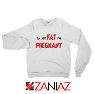 Cheap Pregnancy Sweatshirt Funny Slogan Sweatshirt Size S-2XL White