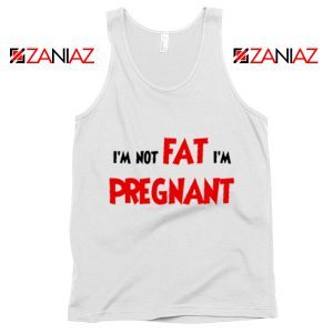 Cheap Pregnancy Tank Top Funny Slogan Tank Top Size S-3XL White