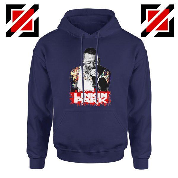 Chester Bennington Hoodie Linkin Park Best Hoodie Size S-2XL Navy