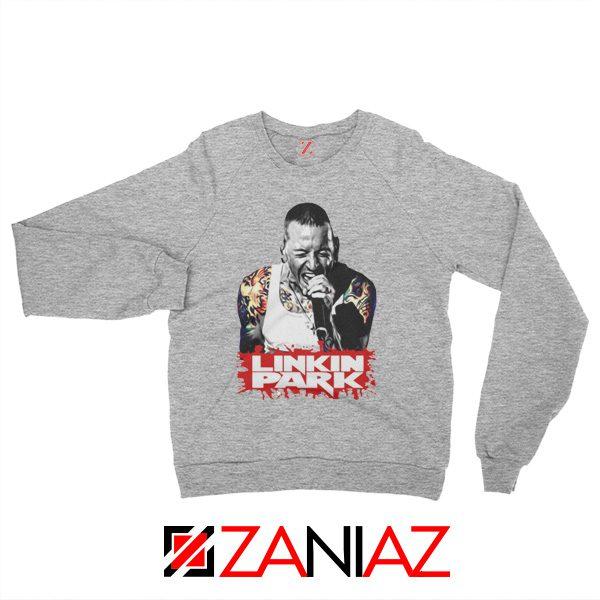 Chester Bennington Sweatshirt Linkin Park Best Sweatshirt Size S-2XL Grey