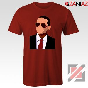Chester Charles Bennington Tshirt American Singer T-shirt Size S-3XL Red