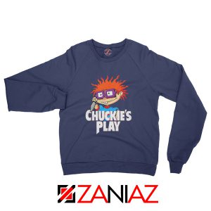Chuckies Play Sweatshirt Rugrats Chuckie's Sweatshirt Size S-2XL Navy Blue