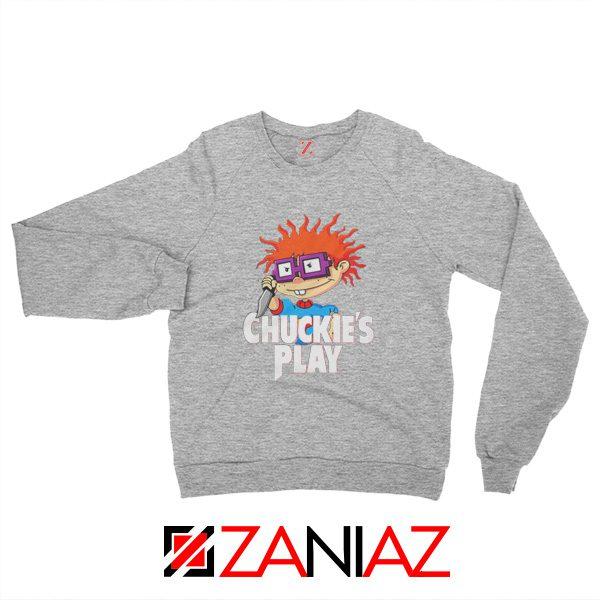 Chuckies Play Sweatshirt Rugrats Chuckie's Sweatshirt Size S-2XL Sport Grey