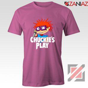 Chuckies Play T-Shirt Rugrats Chuckie's Cheap T-Shirt Size S-3XL Pink