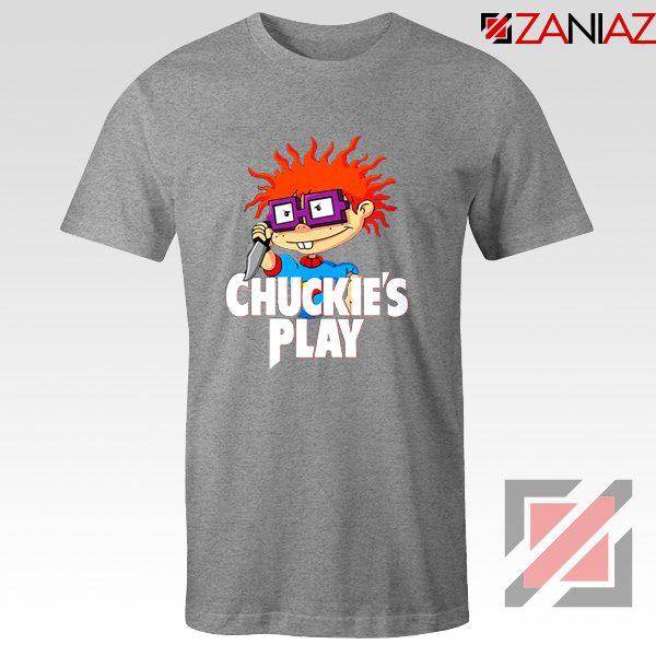 Chuckies Play T-Shirt Rugrats Chuckie's Cheap T-Shirt Size S-3XL Sport Grey