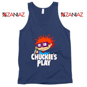 Chuckies Play Tank Top Rugrats Chuckie's Tank Top Size S-3XL Navy Blue