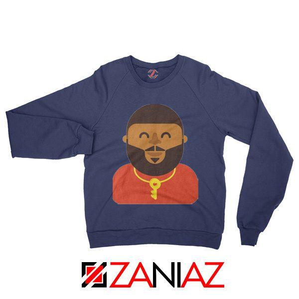 DJ Khaled Sweatshirt American DJ Best Sweatshirt Unisex Adult Navy Blue