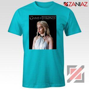 Daenerys Targaryen Tee Shirt Game of Thrones Tshirt Size S-3XL Light Blue