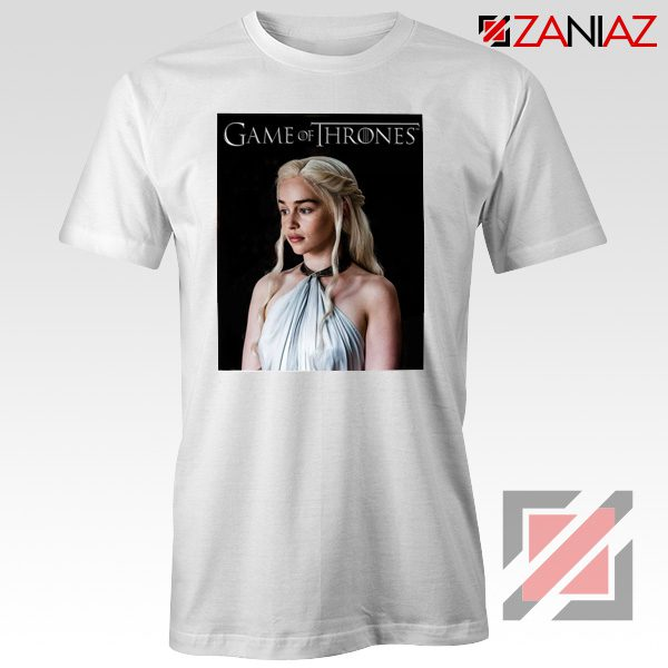 Daenerys Targaryen Tee Shirt Game of Thrones Tshirt Size S-3XL White