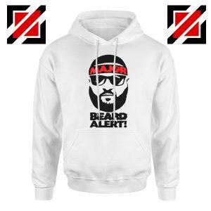Dj Khaled Beard Alert Mens Hoodie American DJ Gift Hoodie Size S-2XL White