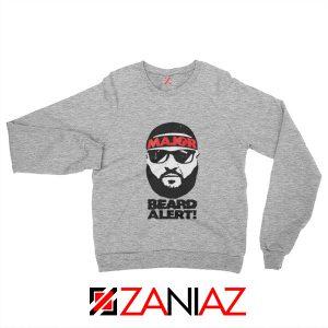 Dj Khaled Beard Alert Mens Sweatshirt American DJ Gift Sweatshirt Sport Grey