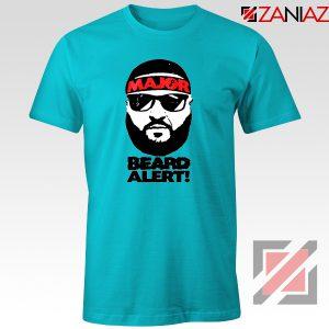 Dj Khaled Beard Alert Mens T-shirt American DJ Gift T-shirt Size S-3XL Light Blue