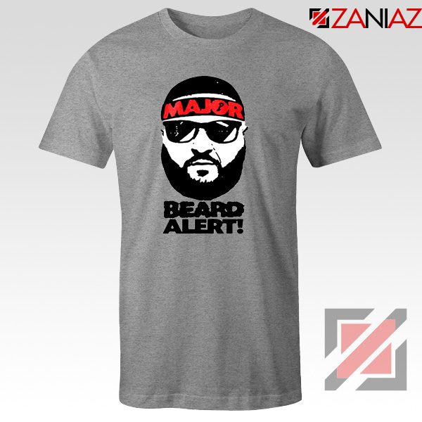 Dj Khaled Beard Alert Mens T-shirt American DJ Gift T-shirt Size S-3XL Sport Grey
