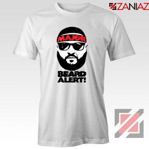 Dj Khaled Beard Alert Mens T-shirt American DJ Gift T-shirt Size S-3XL White