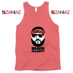 Dj Khaled Beard Alert Mens Tank Top American DJ Gift Tank Top Coral