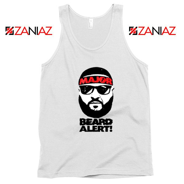Dj Khaled Beard Alert Mens Tank Top American DJ Gift Tank Top White