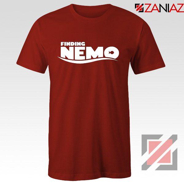 Finding Nemo Movie Logo T-Shirt Disney Pixar T-Shirt Size S-3XL Red