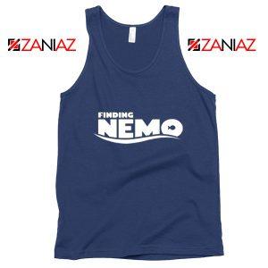Finding Nemo Movie Logo Tank Top Disney Pixar Tank Top Size S-3XL Navy