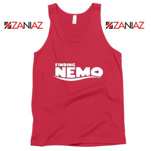 Finding Nemo Movie Logo Tank Top Disney Pixar Tank Top Size S-3XL Red