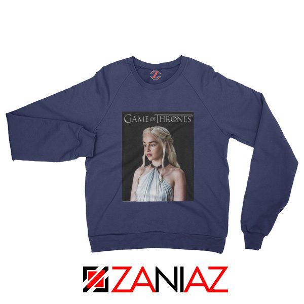 Game of Thrones Daenerys Sweatshirt Women's Sweatshirt Size S-2XL Navy Blue