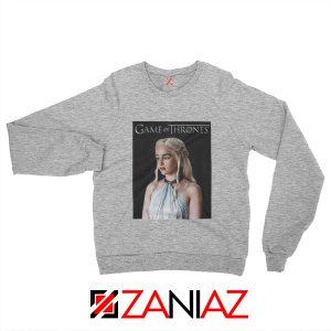 Game of Thrones Daenerys Sweatshirt Women's Sweatshirt Size S-2XL Sport Grey