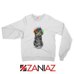 Gauntlet Thanos Avengers Villain Best Sweatshirts Size S-2XL White