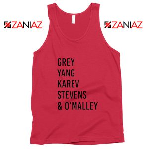 George O'Malley Grey's Anatomy Squad Cheap Tank Top Size S-3XL Red