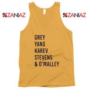George O'Malley Grey's Anatomy Squad Cheap Tank Top Size S-3XL Sunshine