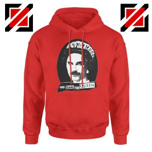 God Save The Queen Hoodie British Rock Band Hoodie Size S-2XL Red