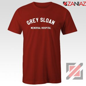 Grey Sloan Memorial Hospital Tee Shirt Greys Anatomy Best T-shirt Red