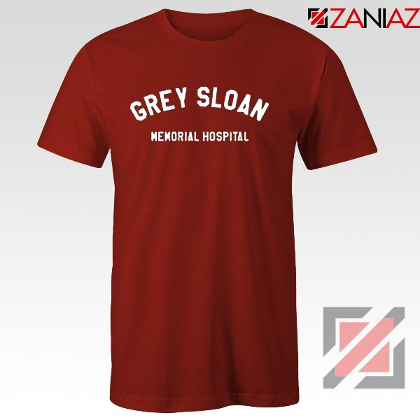 Grey Sloan Memorial Hospital Tee Shirt Greys Anatomy Best T-shirt Red