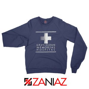 Grey Sloan Memorial Sweatshirt American Drama Medical TV Series Navy
