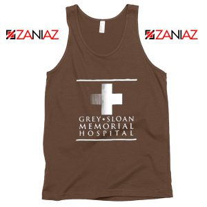 Grey Sloan Memorial Tank Top American Drama Medical TV Series Brown