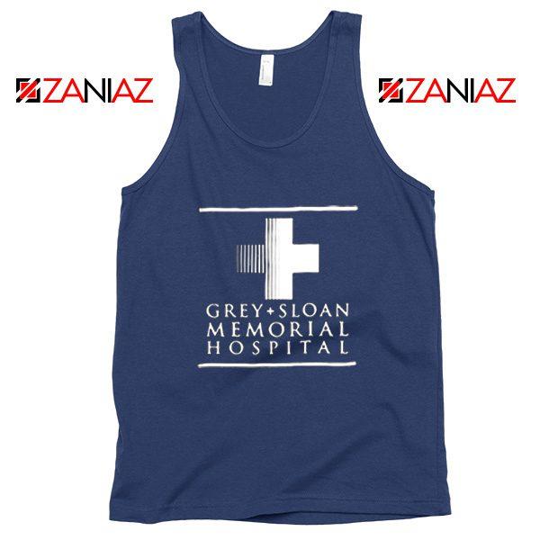 Grey Sloan Memorial Tank Top American Drama Medical TV Series Navy Blue