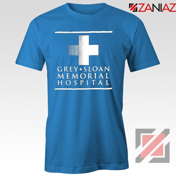 Grey Sloan Memorial Tee Shirt American Medical Television Series Light Blue