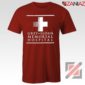Grey Sloan Memorial Tee Shirt American Medical Television Series Red