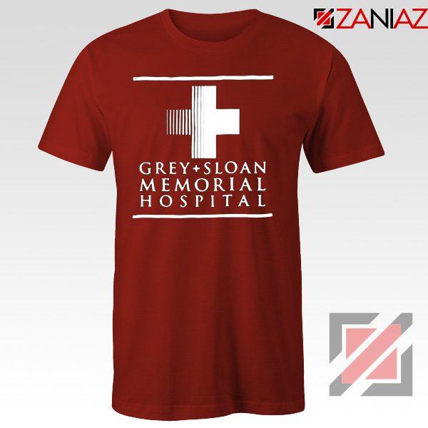 Grey Sloan Memorial Tee Shirt American Medical Television Series Red
